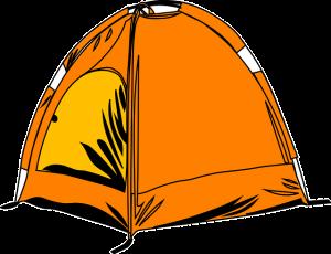 Zelt orange