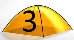3 Personen Zelt